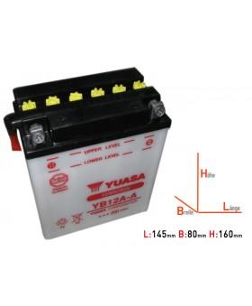 Batterie Yuasa YB12A-A chez Motokristen