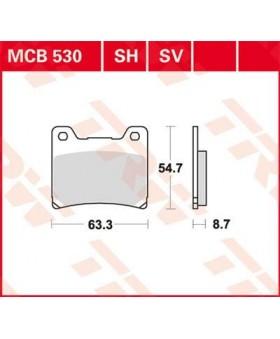 Plaquettes de Frein AR TRW Lucas MCB530 chez Motokristen