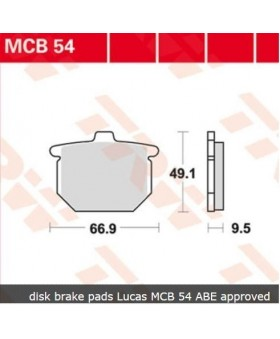 Plaquettes AV et AR MCB54 pour diverses Honda chez Motokristen