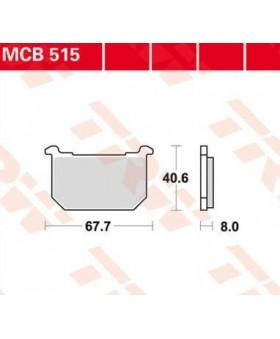 Plaquettes de freins composite TRW Lucas MCB515 chez Motokristen