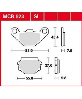Plaquettes de freins composite TRW Lucas MCB523 chez Motokristen