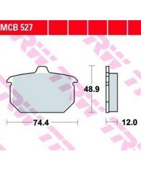 Plaquettes de freins composite TRW Lucas MCB527 pour Harley Davidson chez Motokristen