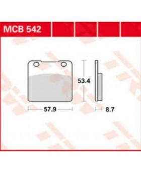 Plaquettes de freins composite TRW Lucas MCB542 pour Suzuki chez Motokristen