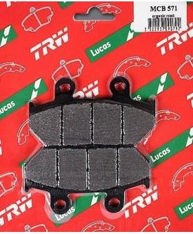 Plaquettes de freins composite TRW Lucas MCB571 chez Motokristen