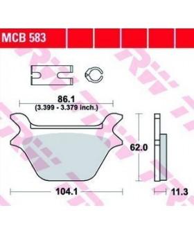 Dimensions plaquettes de freins composite TRW Lucas MCB583 chez Motokristen