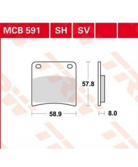 Dimensions plaquettes de freins composite TRW Lucas MCB591 chez Motokristen