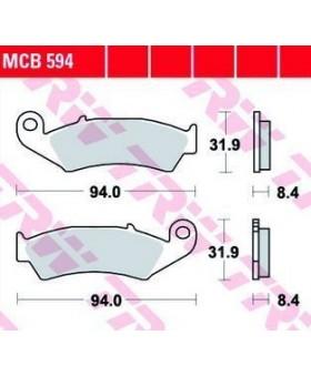 Dimensions plaquettes de freins composite TRW Lucas MCB594 chez Motokristen