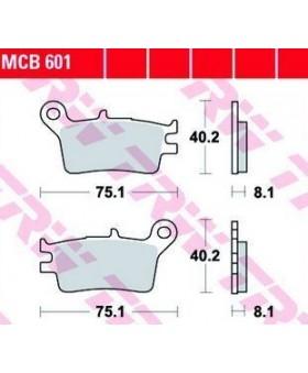 Dimensions plaquettes de freins composite TRW Lucas MCB601 chez Motokristen