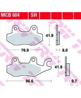 Dimensions plaquettes de freins composite TRW Lucas MCB604 chez Motokristen